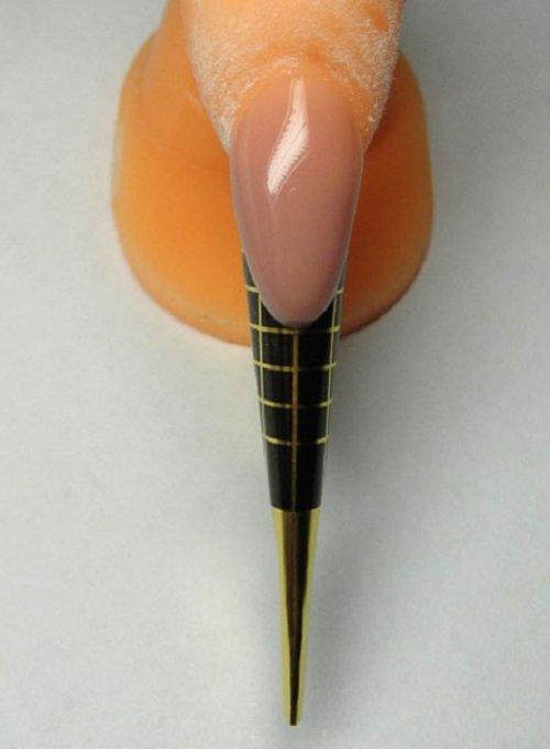 Наращивание ногтей на формах френч пошаговое