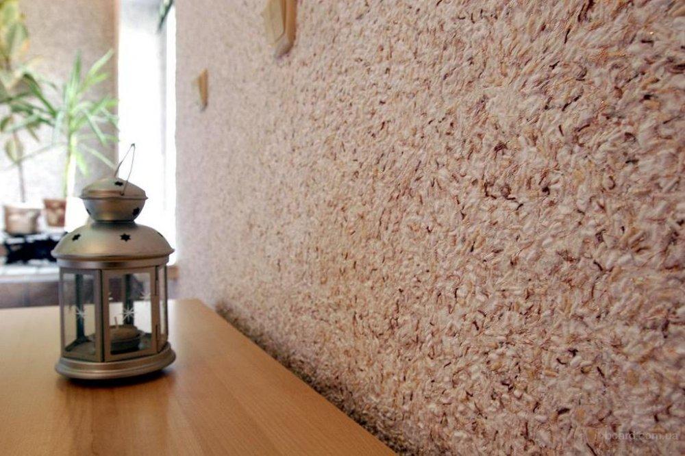 Фото жидких обоев в квартире